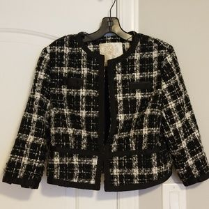 ARDEN B, BLACK/WHITE, JACKET, SIZE M